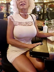 Classy-looking older housewife likes a huge boner very much