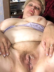 Grey tinged granny in sexy lingerie