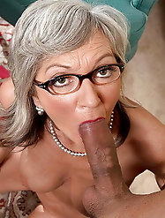 Sensual mature M-I-L-F loves blowjob