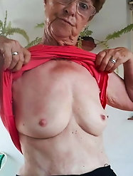 Desirable  old GILF is showing off her melons