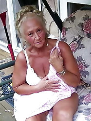 Non-nude Blonde granny is a little cutie