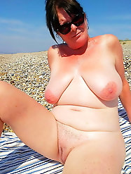 Libidinous mature gilf is showing off her tits