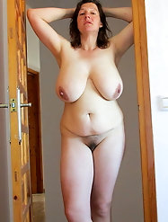 Big titted granny is built for fucking